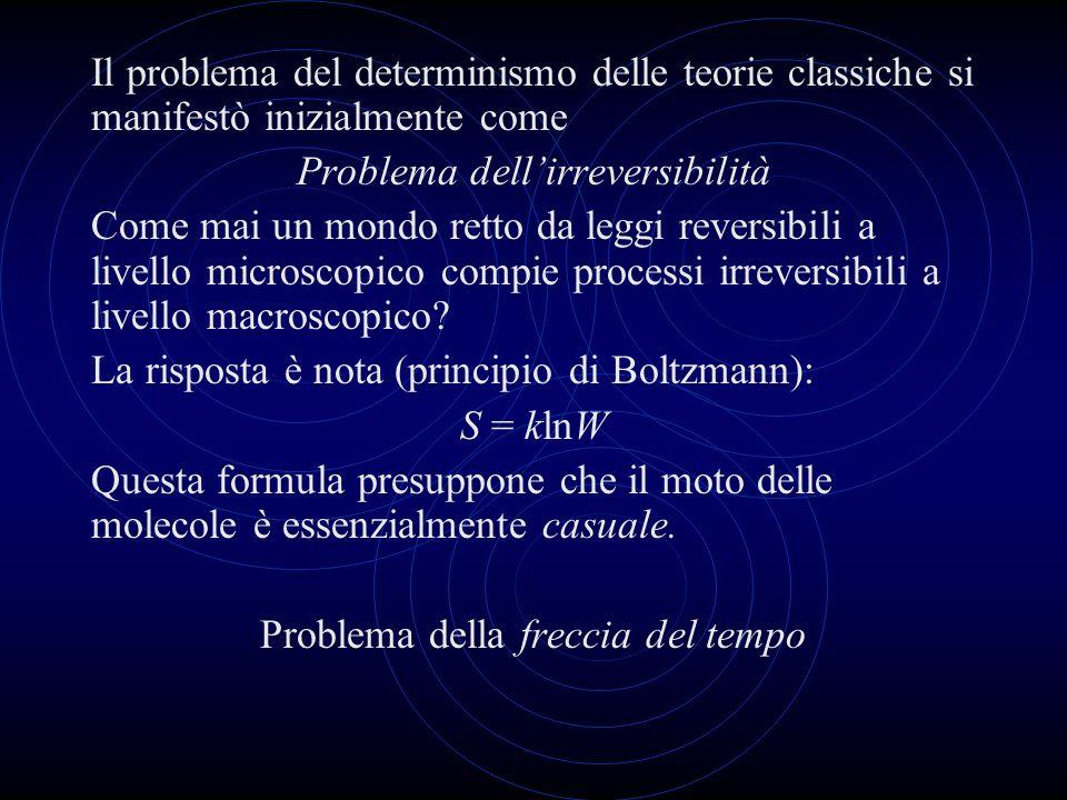 Problema dell'irreversibilità