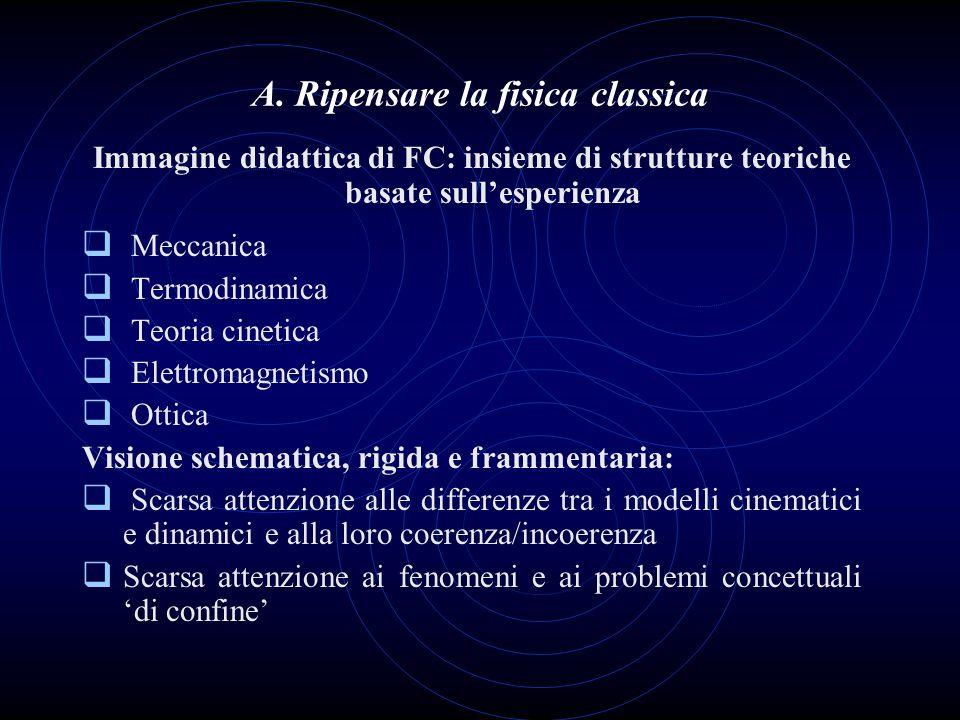 A. Ripensare la fisica classica