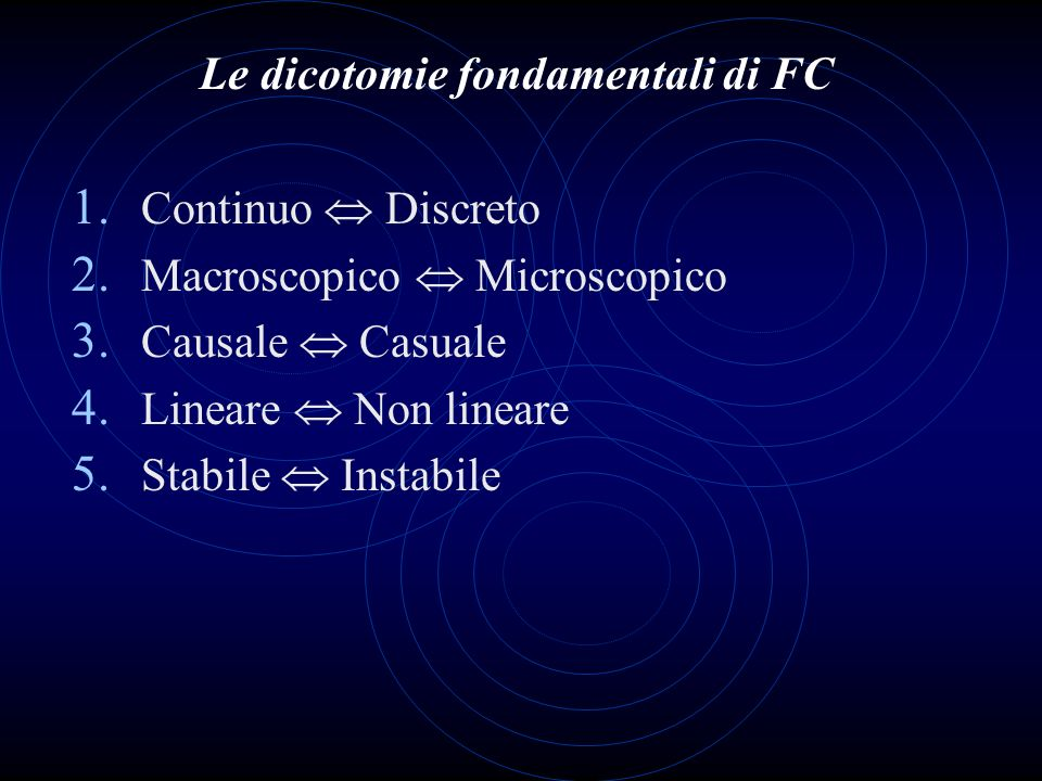 Le dicotomie fondamentali di FC