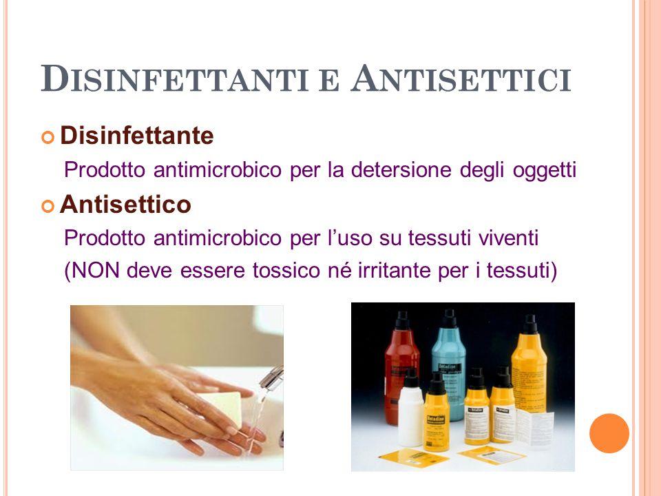 Disinfettanti e Antisettici