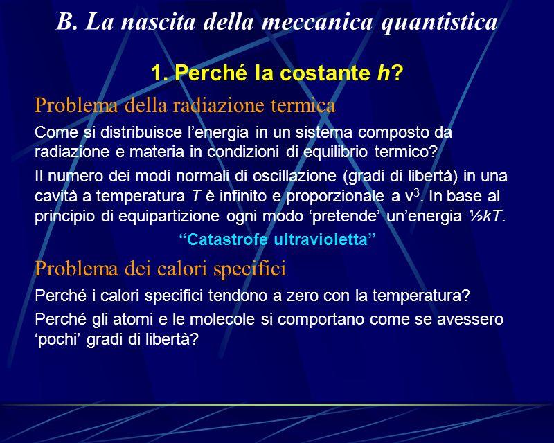 B. La nascita della meccanica quantistica