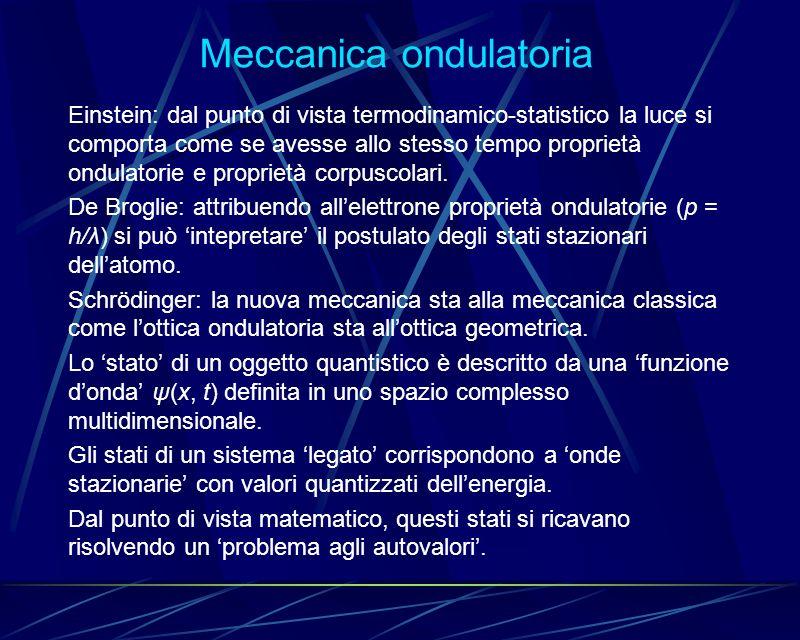 Meccanica ondulatoria