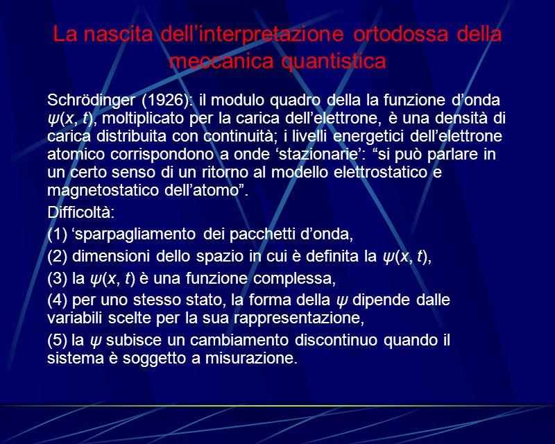 La nascita dell'interpretazione ortodossa della meccanica quantistica