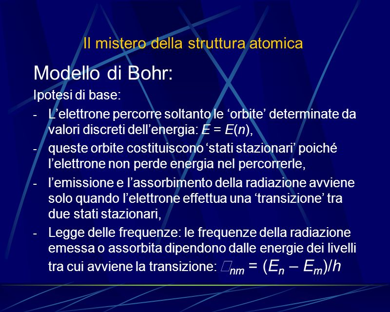 Il mistero della struttura atomica