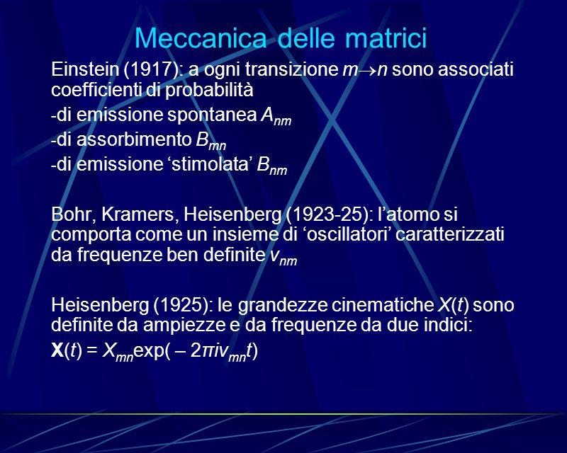 Meccanica delle matrici