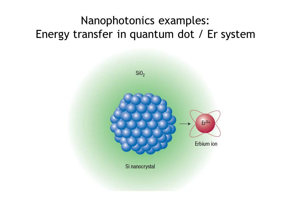 Nanophotonics examples: Energy transfer in quantum dot / Er system