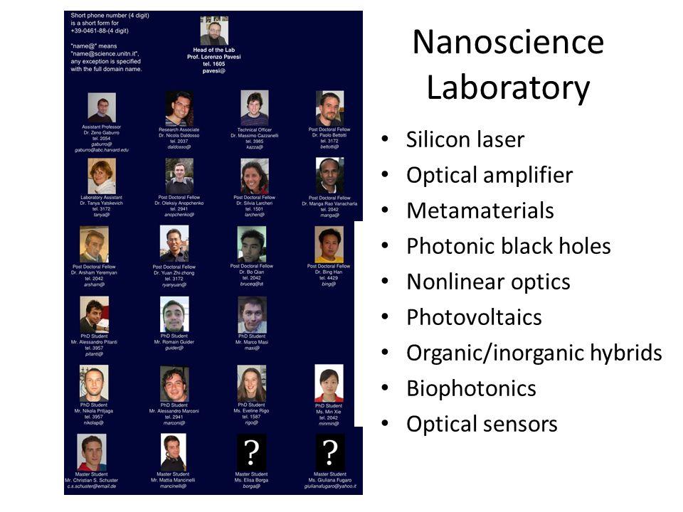 Nanoscience Laboratory