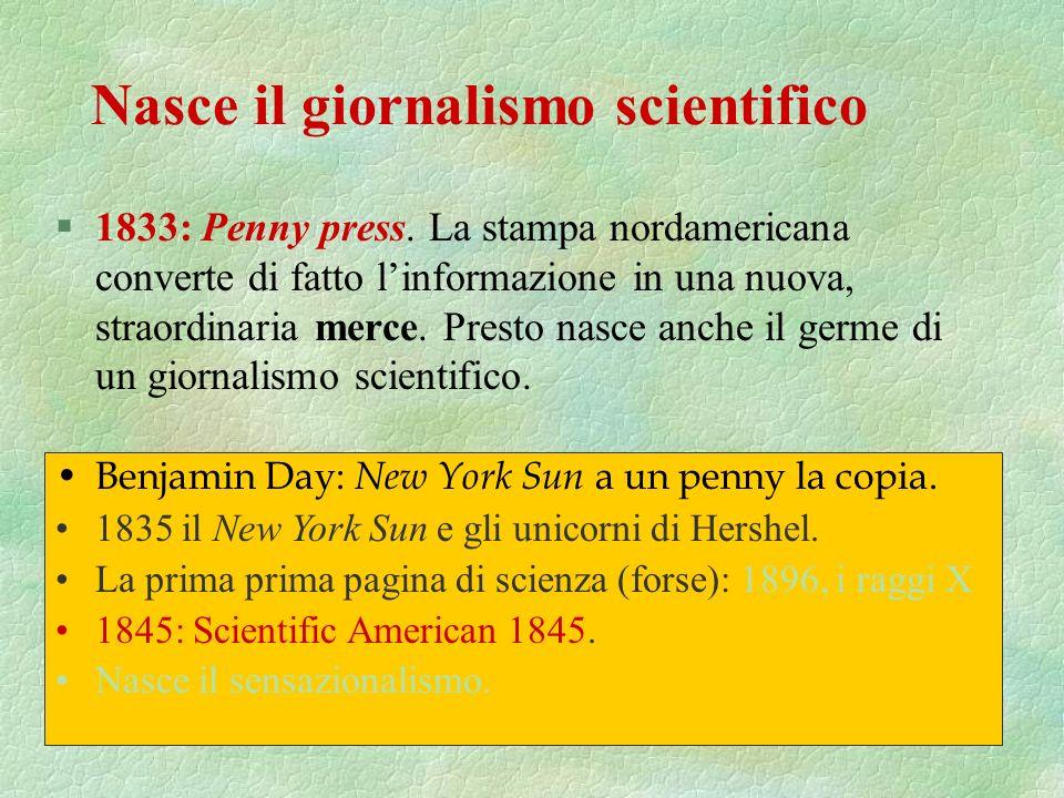 Nasce il giornalismo scientifico