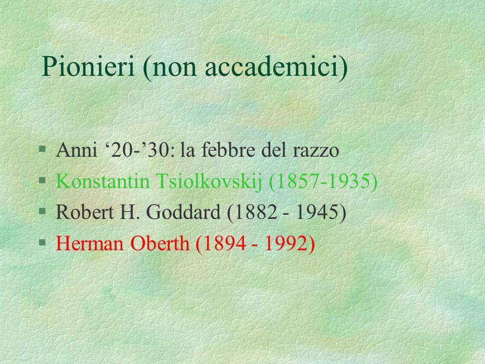 Pionieri (non accademici)