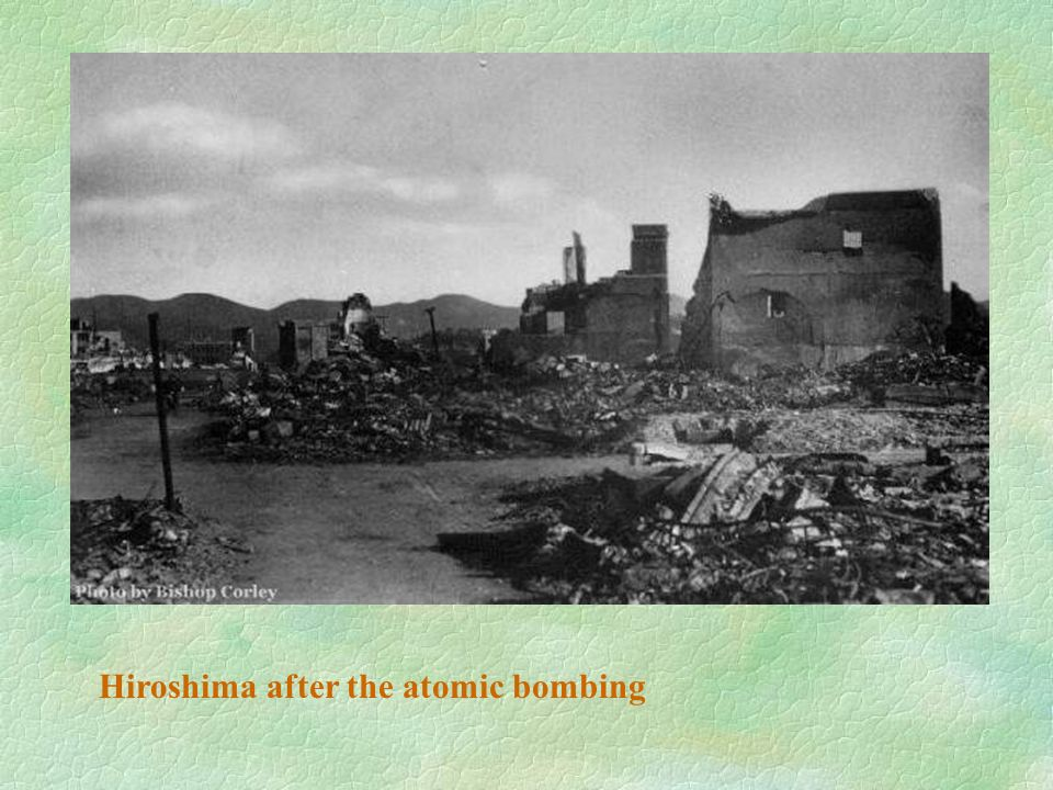 Hiroshima after the atomic bombing