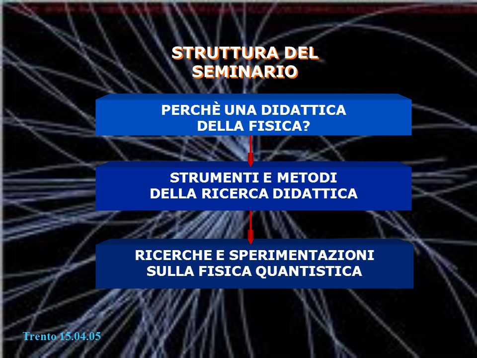 STRUTTURA DEL SEMINARIO