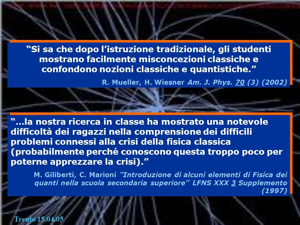 Si sa che dopo l'istruzione tradizionale, gli studenti mostrano facilmente misconcezioni classiche e confondono nozioni classiche e quantistiche.