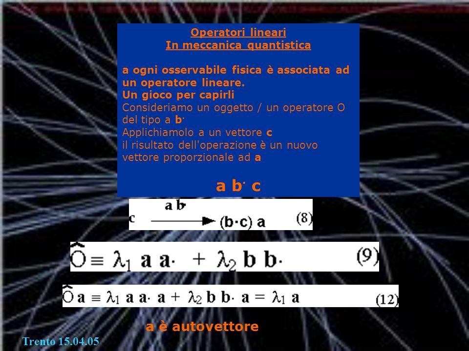 In meccanica quantistica