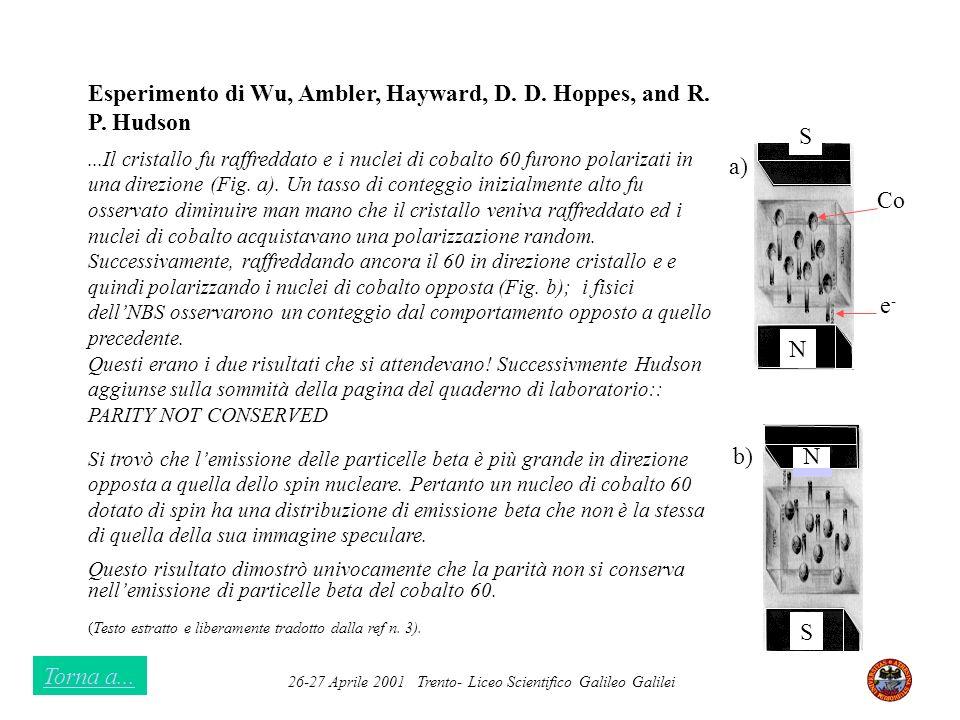 Esperimento di Wu, Ambler, Hayward, D. D. Hoppes, and R. P. Hudson