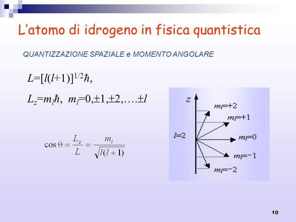 L'atomo di idrogeno in fisica quantistica