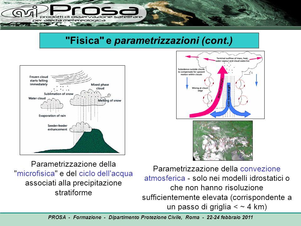 Fisica e parametrizzazioni (cont.)