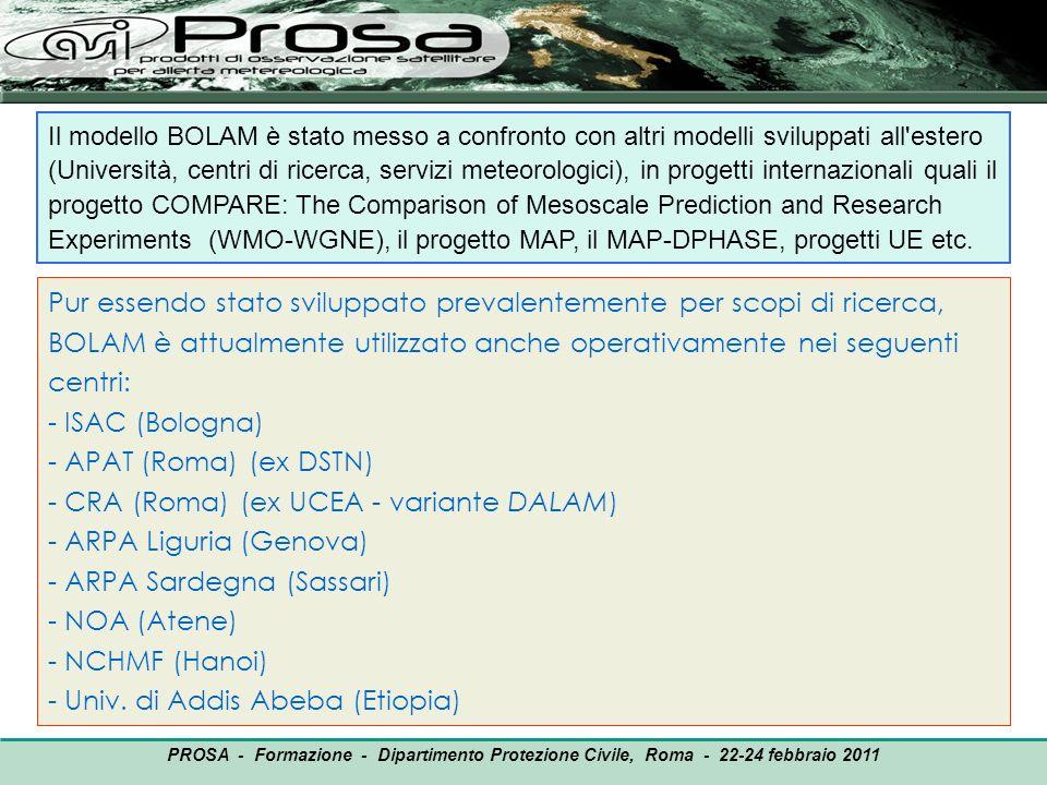 - CRA (Roma) (ex UCEA - variante DALAM) ARPA Liguria (Genova)