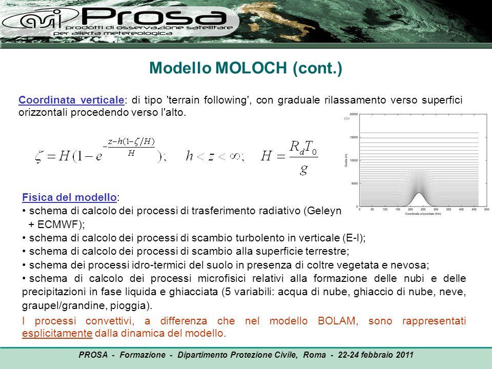 Modello MOLOCH (cont.)
