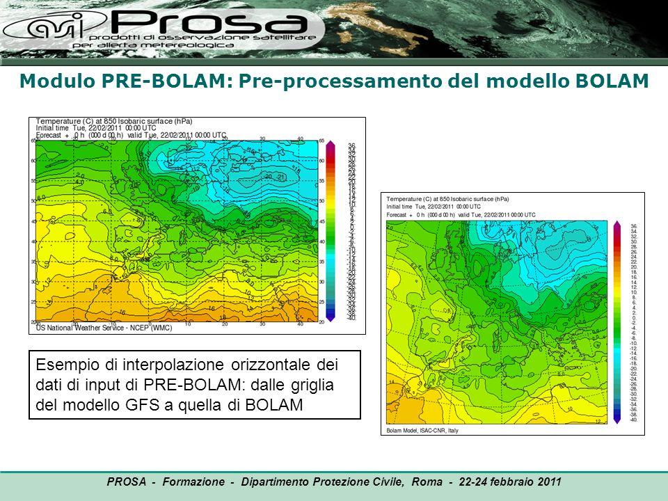 Modulo PRE-BOLAM: Pre-processamento del modello BOLAM