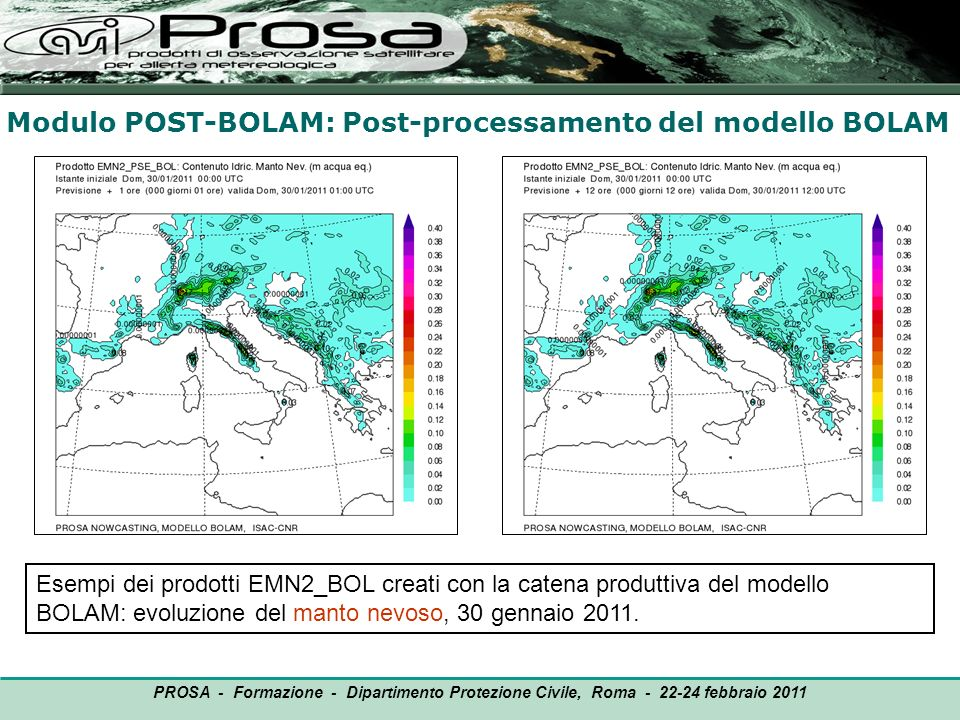 Modulo POST-BOLAM: Post-processamento del modello BOLAM