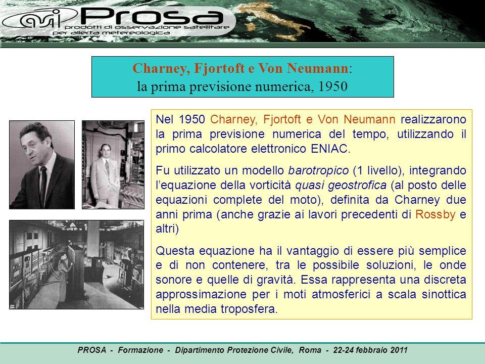 Charney, Fjortoft e Von Neumann: la prima previsione numerica, 1950