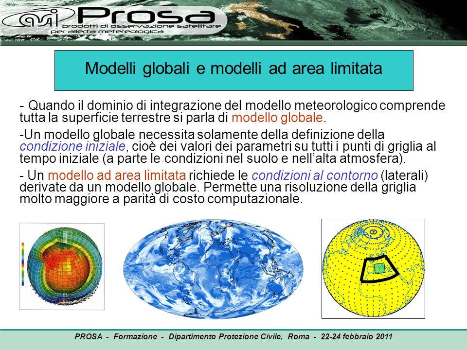 Modelli globali e modelli ad area limitata