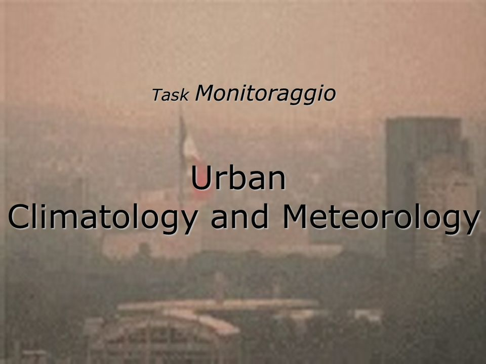Climatology and Meteorology