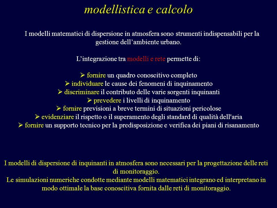 modellistica e calcolo
