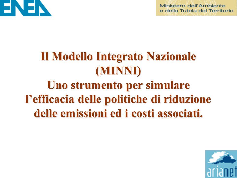 Il Modello Integrato Nazionale (MINNI) Uno strumento per simulare l'efficacia delle politiche di riduzione delle emissioni ed i costi associati.
