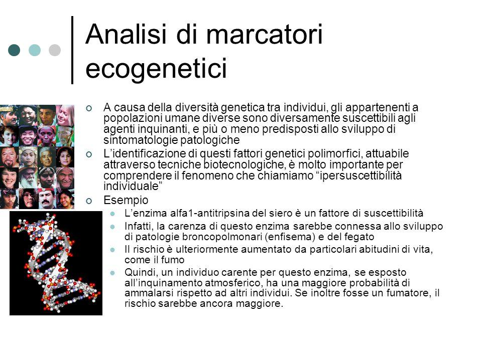 Analisi di marcatori ecogenetici