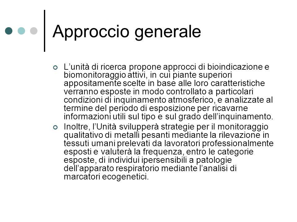 Approccio generale