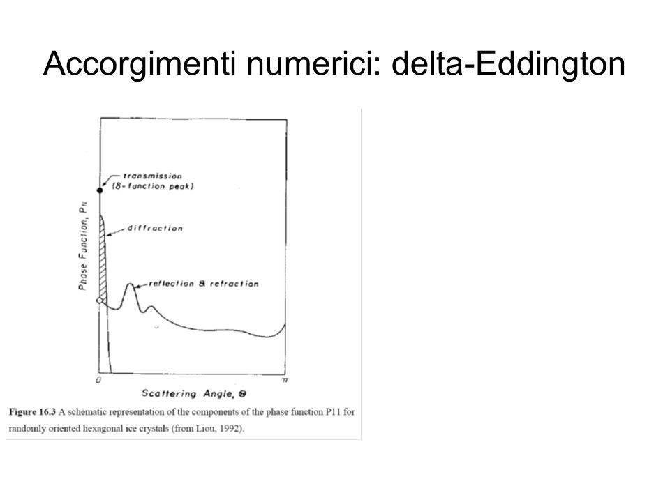 Accorgimenti numerici: delta-Eddington