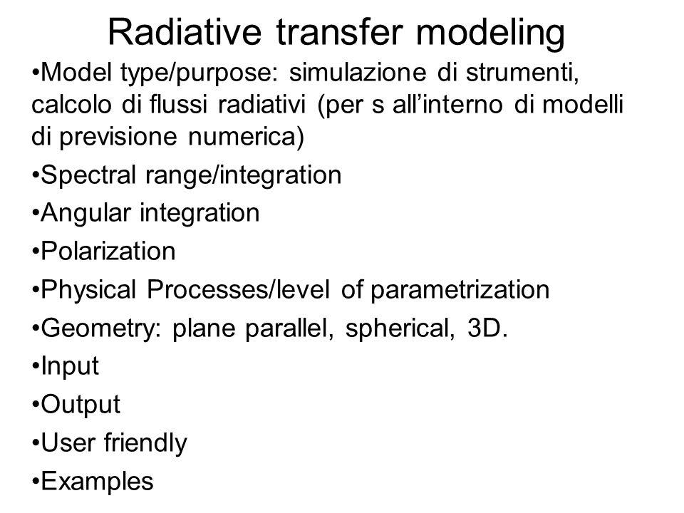 Radiative transfer modeling