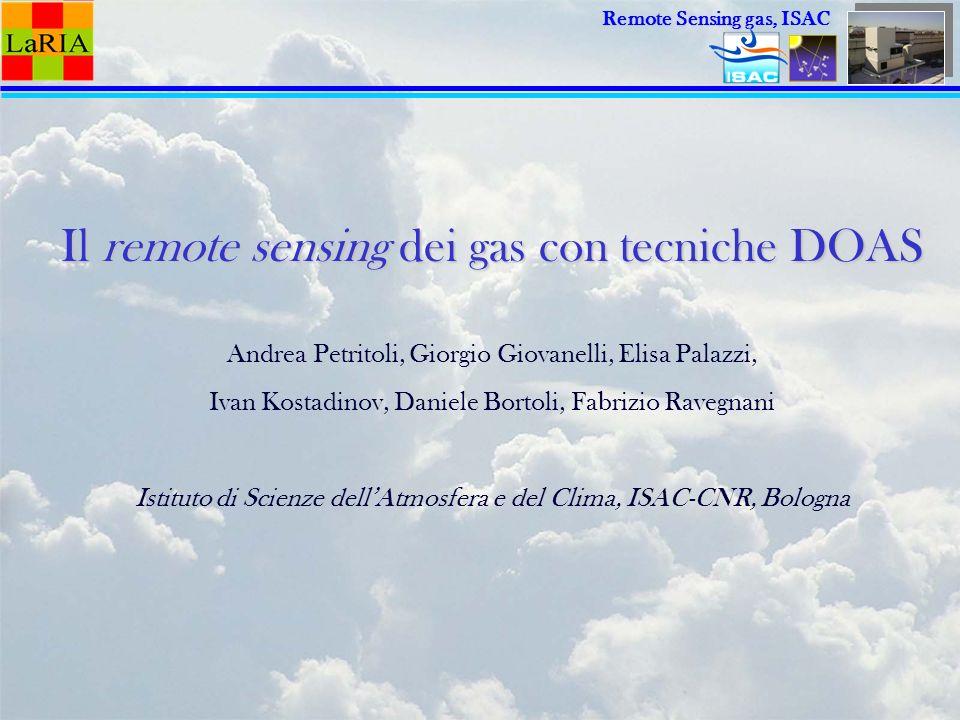 Il remote sensing dei gas con tecniche DOAS