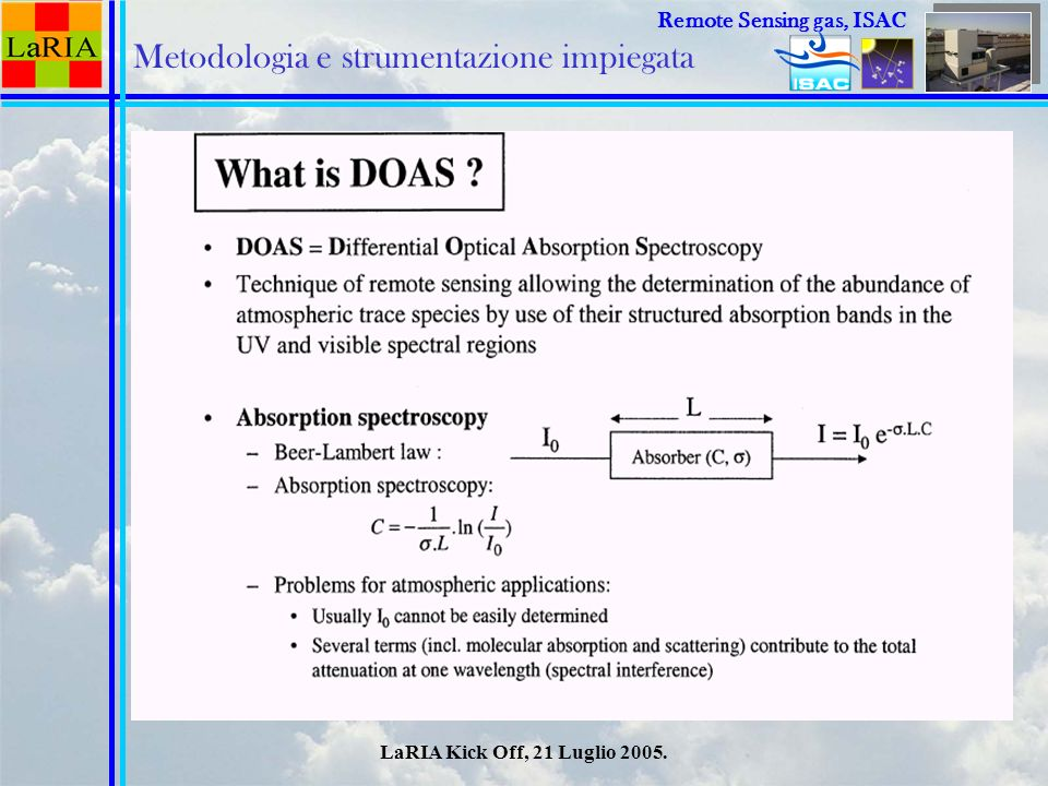 Metodologia e strumentazione impiegata
