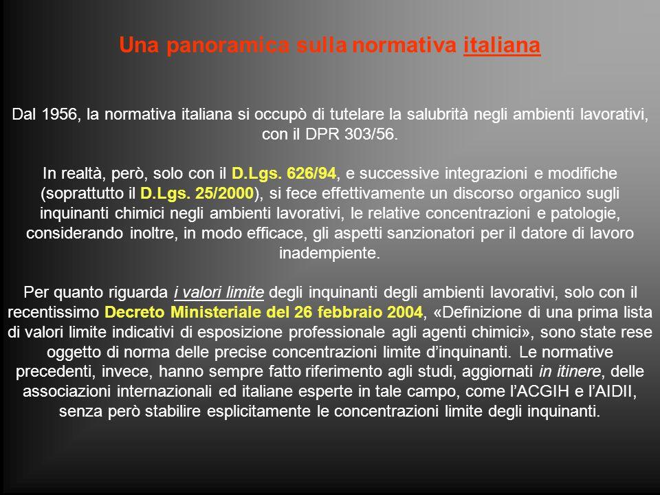 Una panoramica sulla normativa italiana