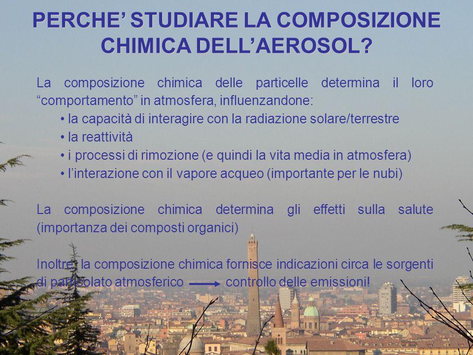 PERCHE' STUDIARE LA COMPOSIZIONE CHIMICA DELL'AEROSOL