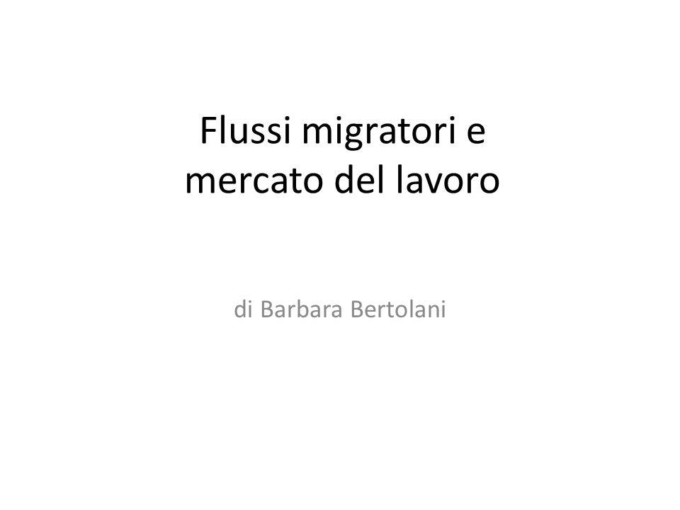 Flussi migratori e mercato del lavoro