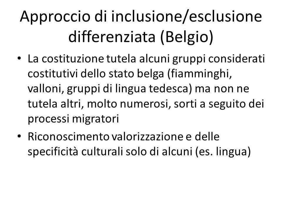 Approccio di inclusione/esclusione differenziata (Belgio)