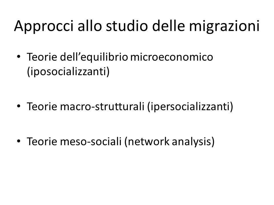 Approcci allo studio delle migrazioni