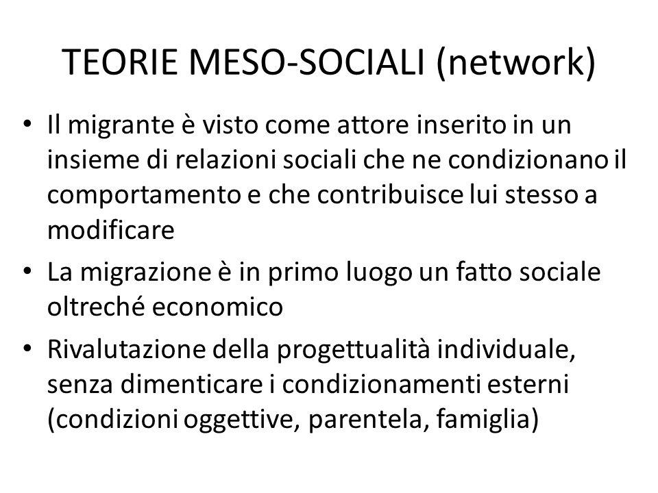 TEORIE MESO-SOCIALI (network)