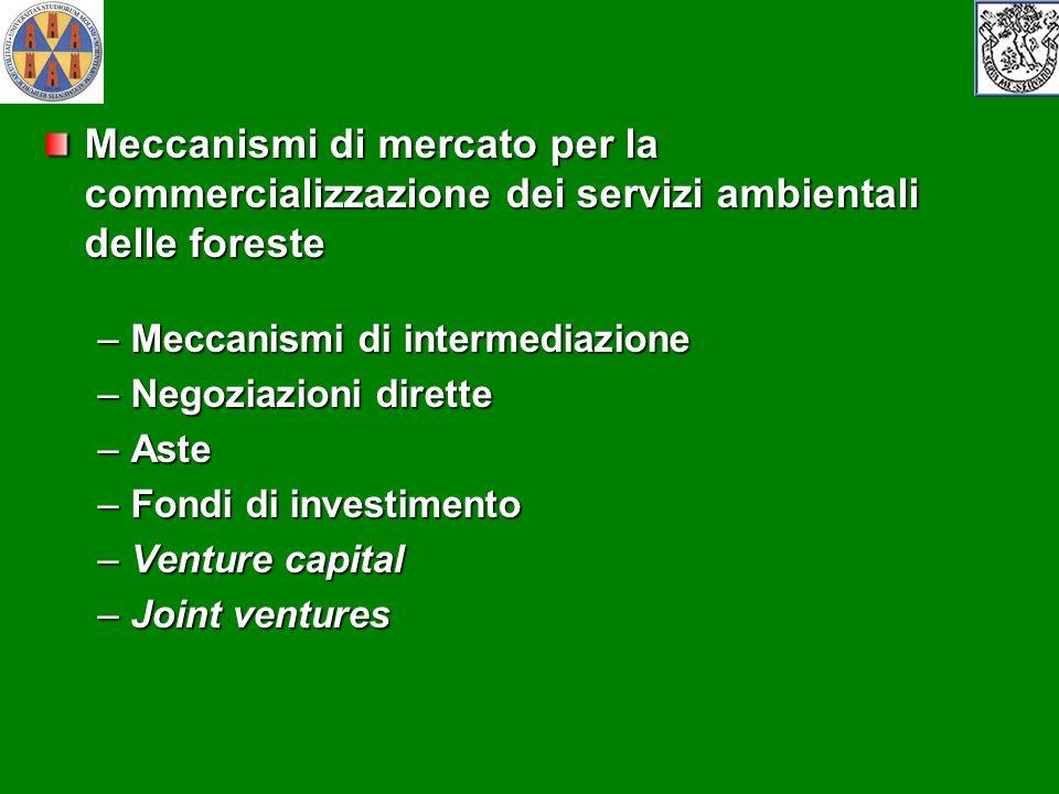 Meccanismi di mercato per la commercializzazione dei servizi ambientali delle foreste