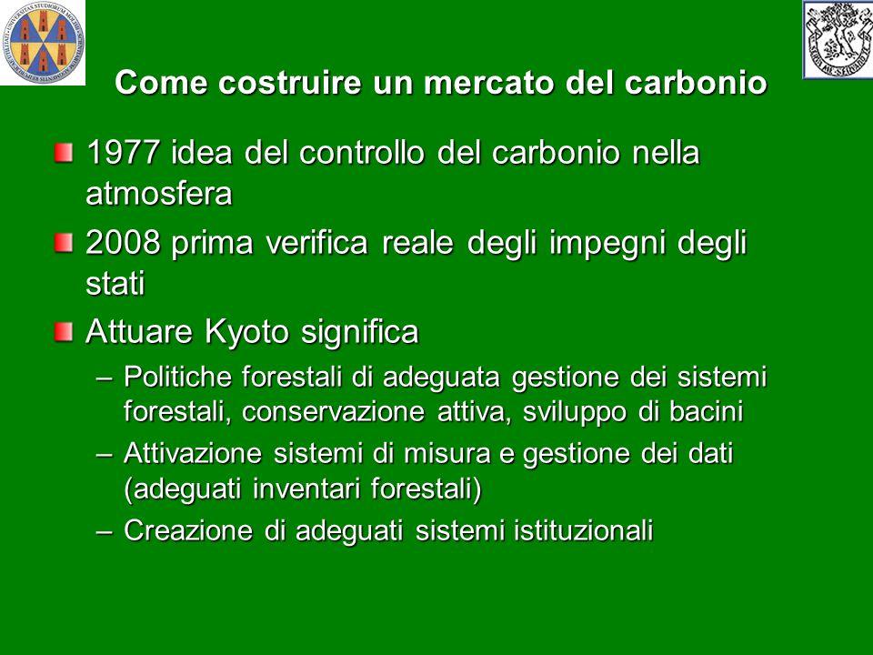 Come costruire un mercato del carbonio