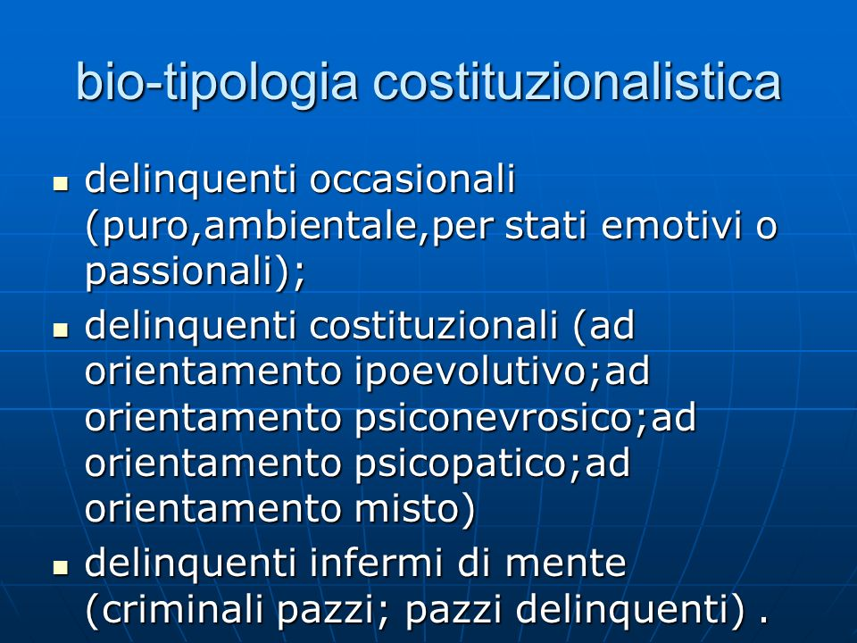 bio-tipologia costituzionalistica