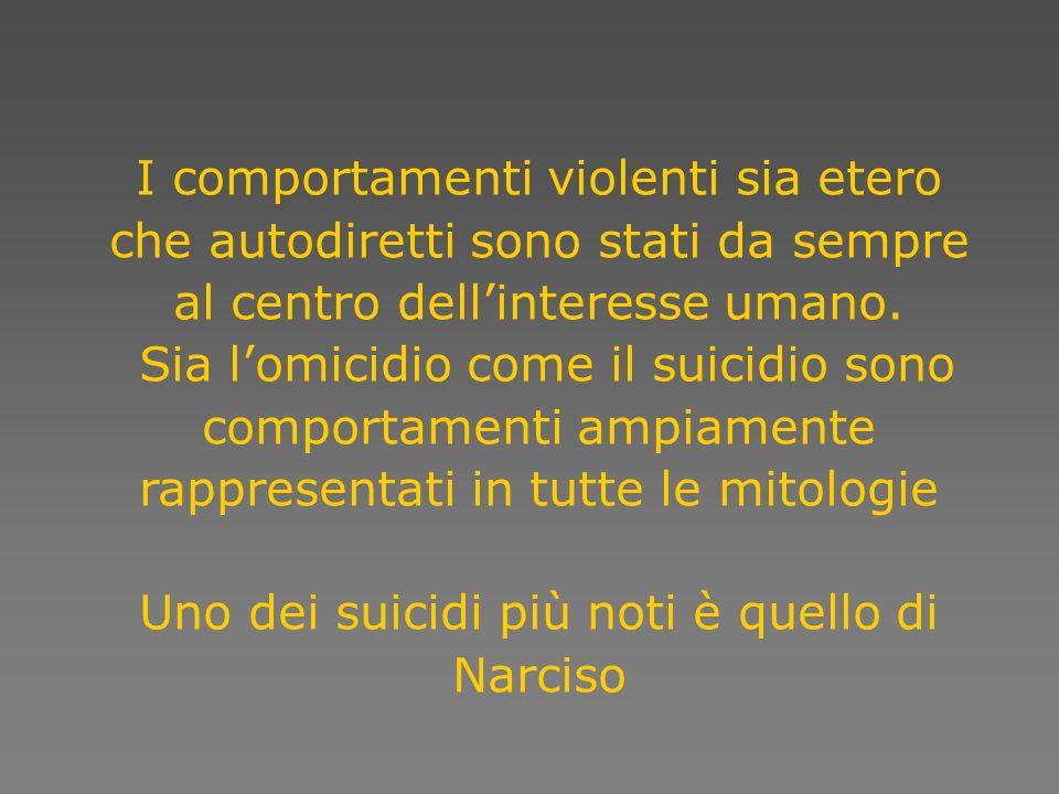 Uno dei suicidi più noti è quello di Narciso
