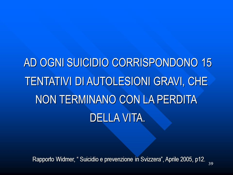 AD OGNI SUICIDIO CORRISPONDONO 15