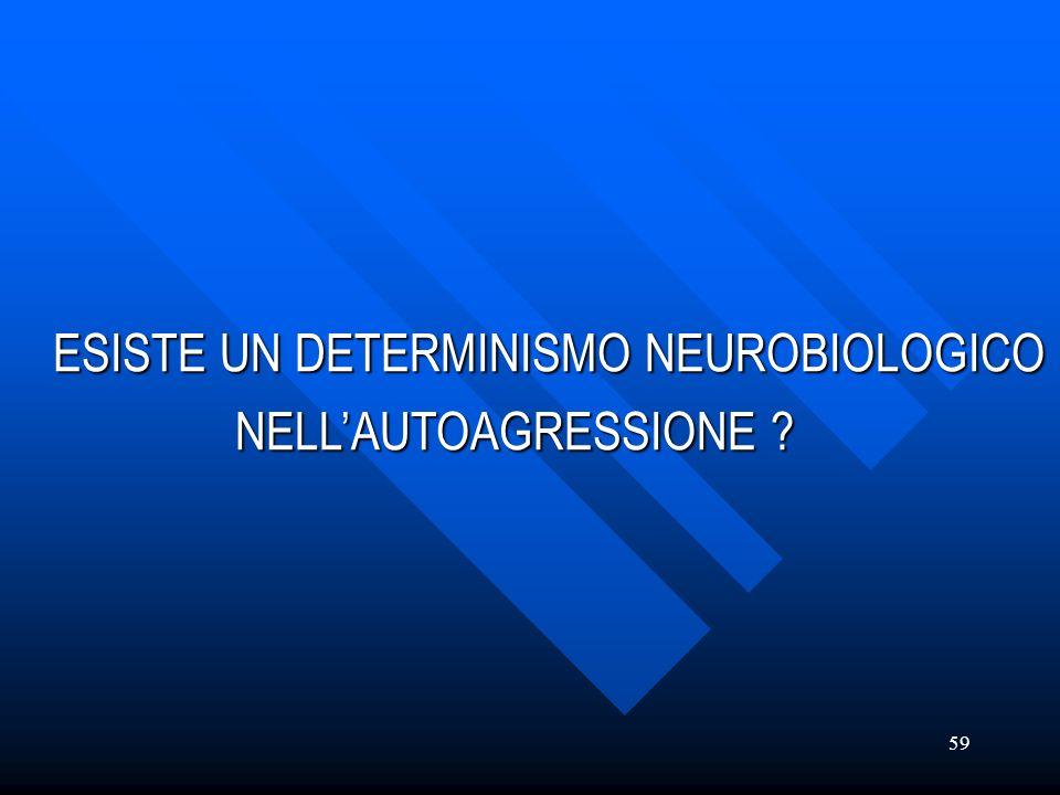 ESISTE UN DETERMINISMO NEUROBIOLOGICO