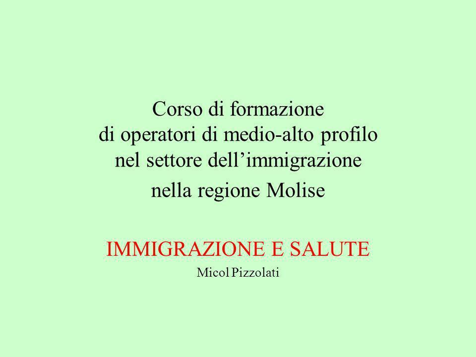 IMMIGRAZIONE E SALUTE Micol Pizzolati
