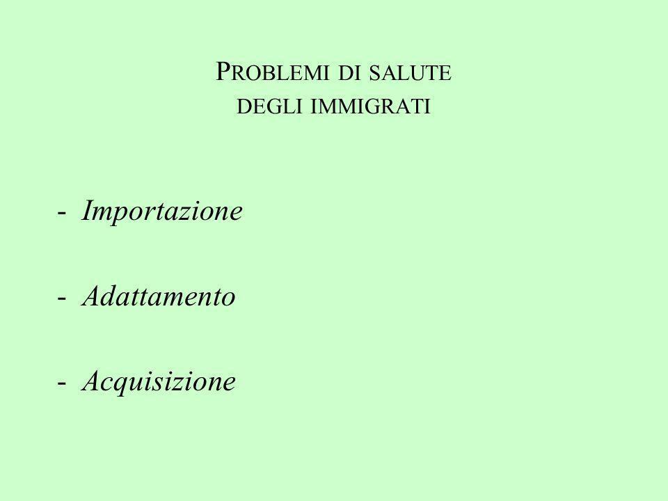 Problemi di salute degli immigrati