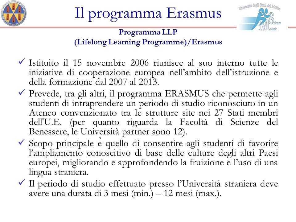 (Lifelong Learning Programme)/Erasmus